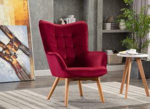 Kayla Viola Crimson Chair - 1