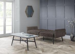 Afina Grey Velvet Sofa Bed Room Open