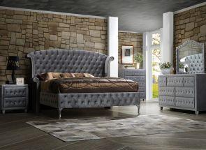Alexandra Grey Fabric Bedroom
