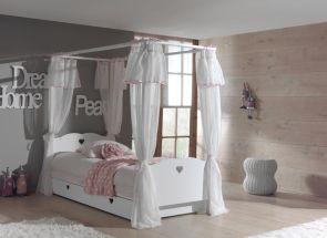 Amori Baldequin Bed With Fabric Surround