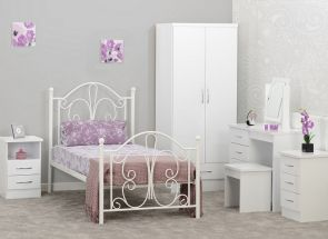 Nevada White + Annabel Bed Bedroom