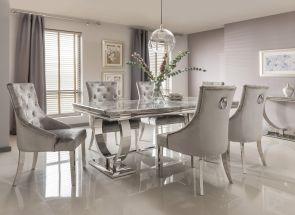 Arianna Grey Table & Belvedere Chair Dining Room