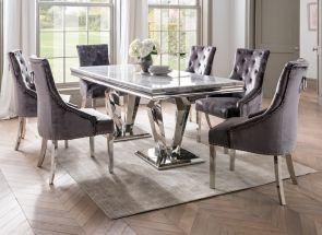 Arturo 1.8 m Rectangular Set + 6 Belvedere Charcoal Chairs