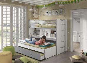 Bonny Grey High sleeper Room - 1