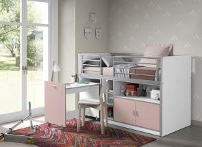 Bonny Pink Mid-Sleeper Room W/Pull-Out Desk Room