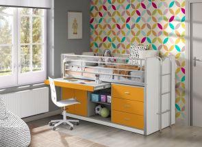Bonny Orange Sleeper W/Slide Out Desk Room