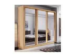 Boston Oak 3 Door Wardrobe Room
