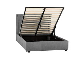 Camden Grey Storage Bed - open