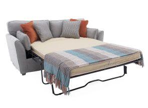 Cantrell Silver Sofa Bed - open