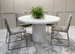Carra Table With Soren Mink Chairs