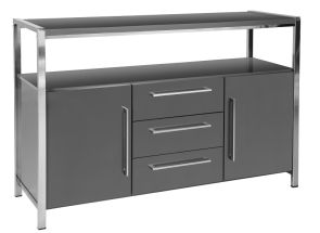Charisma Gloss Grey Sideboard