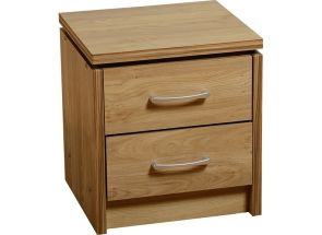 Charles Oak Two Drawer Bedside