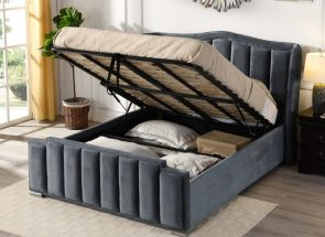 Claire Grey Bed - open