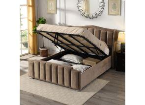 Claire Beige Storage Bed - 2
