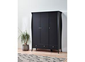 Baroque Black 3 Door Robe