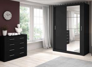 Denmark Black 1.5m Sliderobe Room