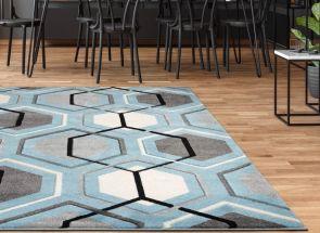 Elsie Blue Rug Floor