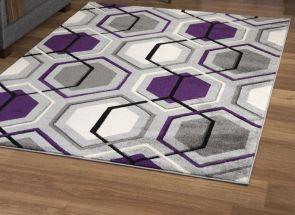 Elsie Purple Rug Floor