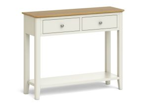 Ascot Ivory Two Tone Painted Console Table