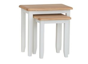 GA White Nest Of Two Tables