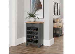 GA Grey Wine Rack - roomset