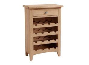 GAO Oak Wine Cabinet W/Drawer