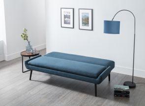 Gaudi Blue Sofa Bed Open
