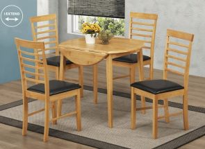 Hanover Round Drop Leaf Table & Four Hanover Chairs