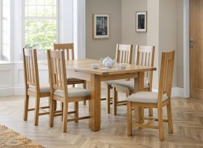 Astoria Ext Table & Hereford Chair Set - open