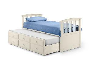 Hornblower Stone White Bed - open