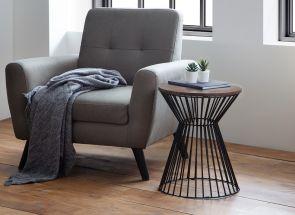 Jersey Walnut Lamp Table Room
