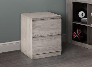 Jupiter Grey Oak Bedside - 1