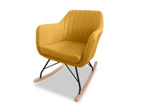 Katell Mustard Rocking Chair - side