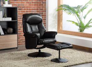 Kenmare Feel Fabric Black Chair