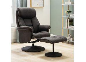 Kenmare Dark Grey Fabric Chair Room