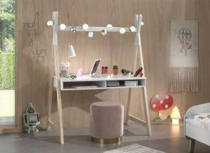 Kiddy White Tipi Desk Room