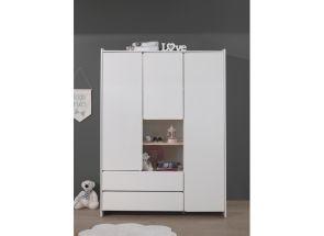 Kiddy White 3 Door Wardrobe Room