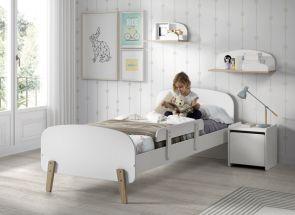 Kiddy White Bedroom W/Small Shelf