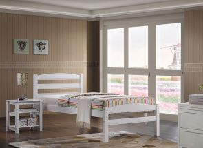 Maria 3 ft White Bed