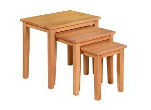 Melissa Oak Triple Table Nest