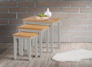 Melissa Grey & Oak Nest Of Tables