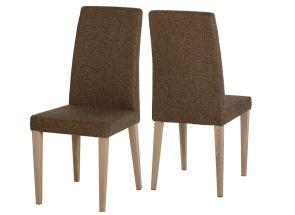 Milan Brown Fabric Chair