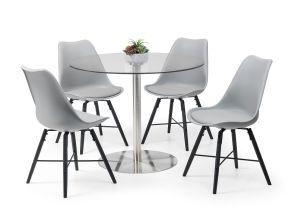 Milan Table + Kari Grey Dining Chairs