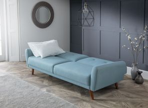 Monza Blue Sofabed - open