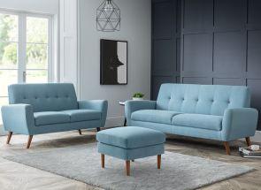Monza Blue Ottoman Room