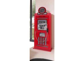 Monza Red Single Door Petro Pump Wardrobe