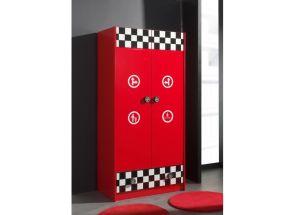 Monza Red Two Door Wardrobe Open