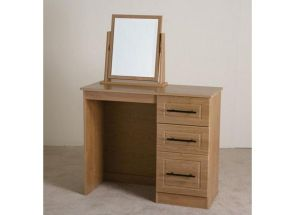 Mya Oak 3 Drw Vanity Unit & Mirror