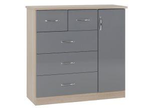 Nevada Grey Low Wardrobe - 1