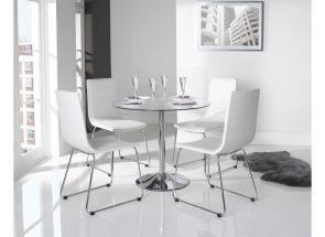 Orbit Polished Metal Dining Room